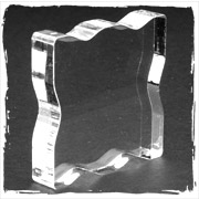 "Pink Acrylic Stamping Block 2.25/"" X 2.25/"" Grip"